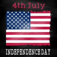 Grunge 4th July background