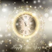 Oro felice anno nuovo sfondo