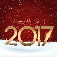Feliz ano novo fundo nevado
