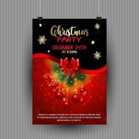 Diseño de flyer fiesta de navidad