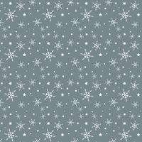 Snowflake and stars pattern  vector