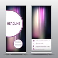 Roll up advertising banners  vector