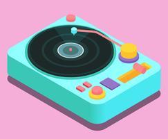 Vinyl Records Vector Illustration