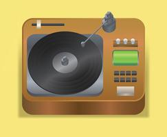 Vinyl Records Vector Illustration