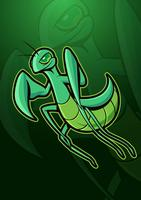 Praying Mantis Mascot Logo