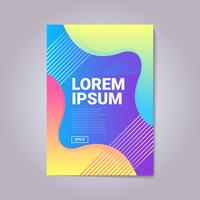 Modern Abstract Gradient Shapes Cover Sammansättning