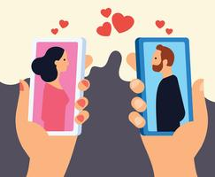 online dating vektor illustration