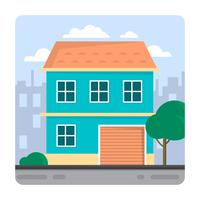Flat Family House vector