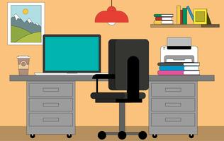 Vector Office Desktop Illustration
