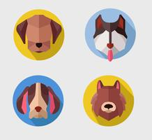 Abstract Polygon Dog Head Vector Flat Illustration Avatar