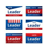 Campaign Sign Templates Vector