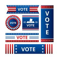Vector de banners de señal de campaña