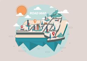 Straßenkarte Vektor