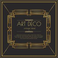 Gouden Art Deco Vector Label