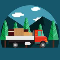 Moving Truck Illustration Vector