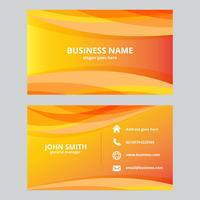 Orange Abstract Waves Business Card
