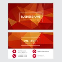Free Vector Red Triangular Business Card
