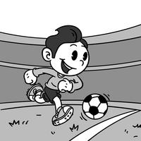 Inkblot Cartoon Soccer Vector