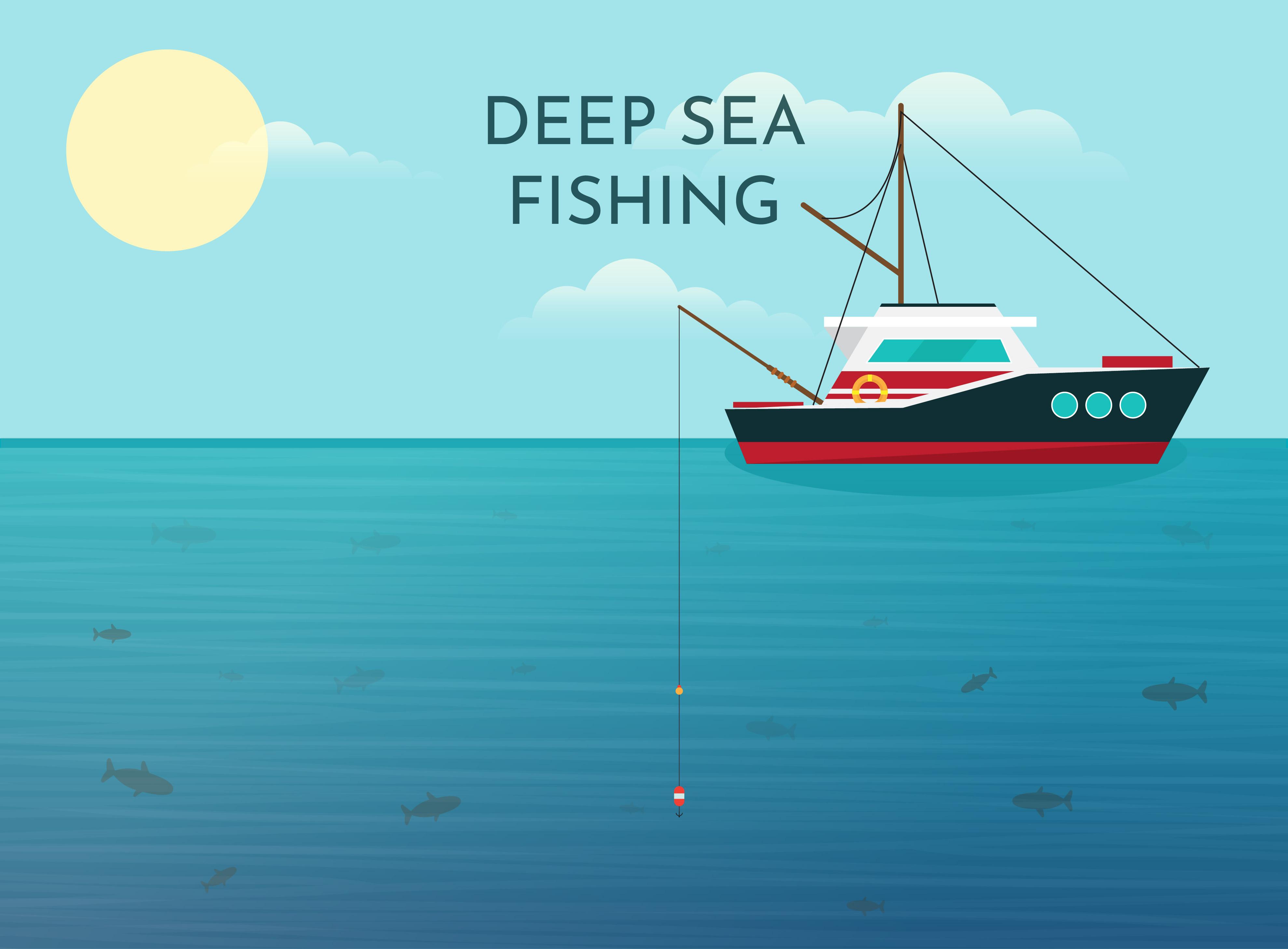 Deep Sea Fishing Background Download Free Vectors Clipart Graphics Vector Art