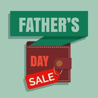 Fathers Day Sale Illustration Vector