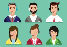 Pacote de vetores de caracteres de serviço ao cliente