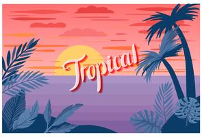 Vectores de paisajes tropicales