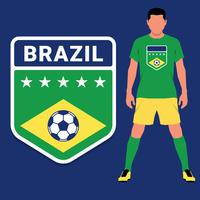 Conjunto de plantillas de diseño de emblema de Campeonato de fútbol brasileño