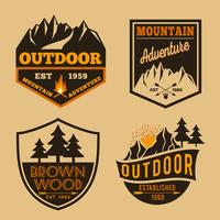 Set of outdoor camping adventure vector