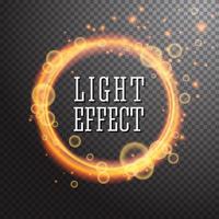 Shining circle light effect design element vector