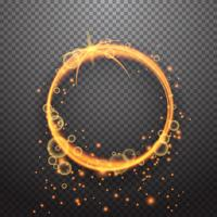Shining circle light effect design element vector