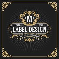 Vintage Luxury Monogram Frame Banner vector