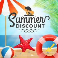 Summer discount typography and holiday background