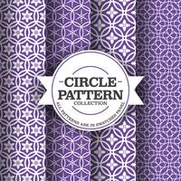 Set of Simple Circle Patterns Background vector