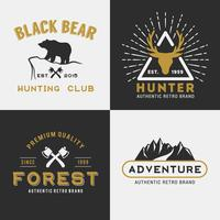 Diseño de logo de Forest Mountain Adventure.