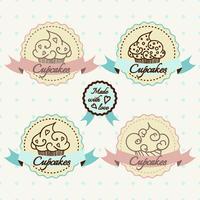 Cupcake logo set.