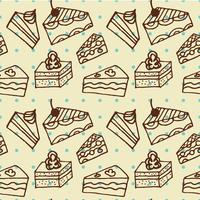 Seamlees pattern with cakes