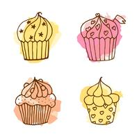 Vector cupcake illustration.