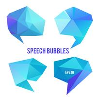 Low poly speech bubbles.