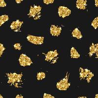 Padrão sem emenda de brilho dourado. De fundo Vector com ouro.