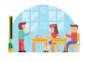 Design de vetor de sala de aula