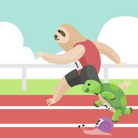 Sloth Race Vector