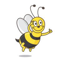 Little Bee Insect Mascot Vector Illustration