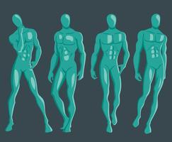 posed mannequin vektor uppsättning