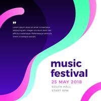 Plantilla de póster de festival de música