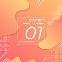 Futuristic Gradient Background with minimalist shape vector illustration