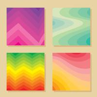 Gradients Collection On Cream Vector