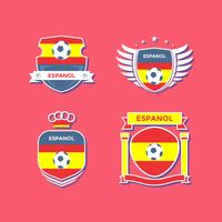 platte espanol voetbal patches vector