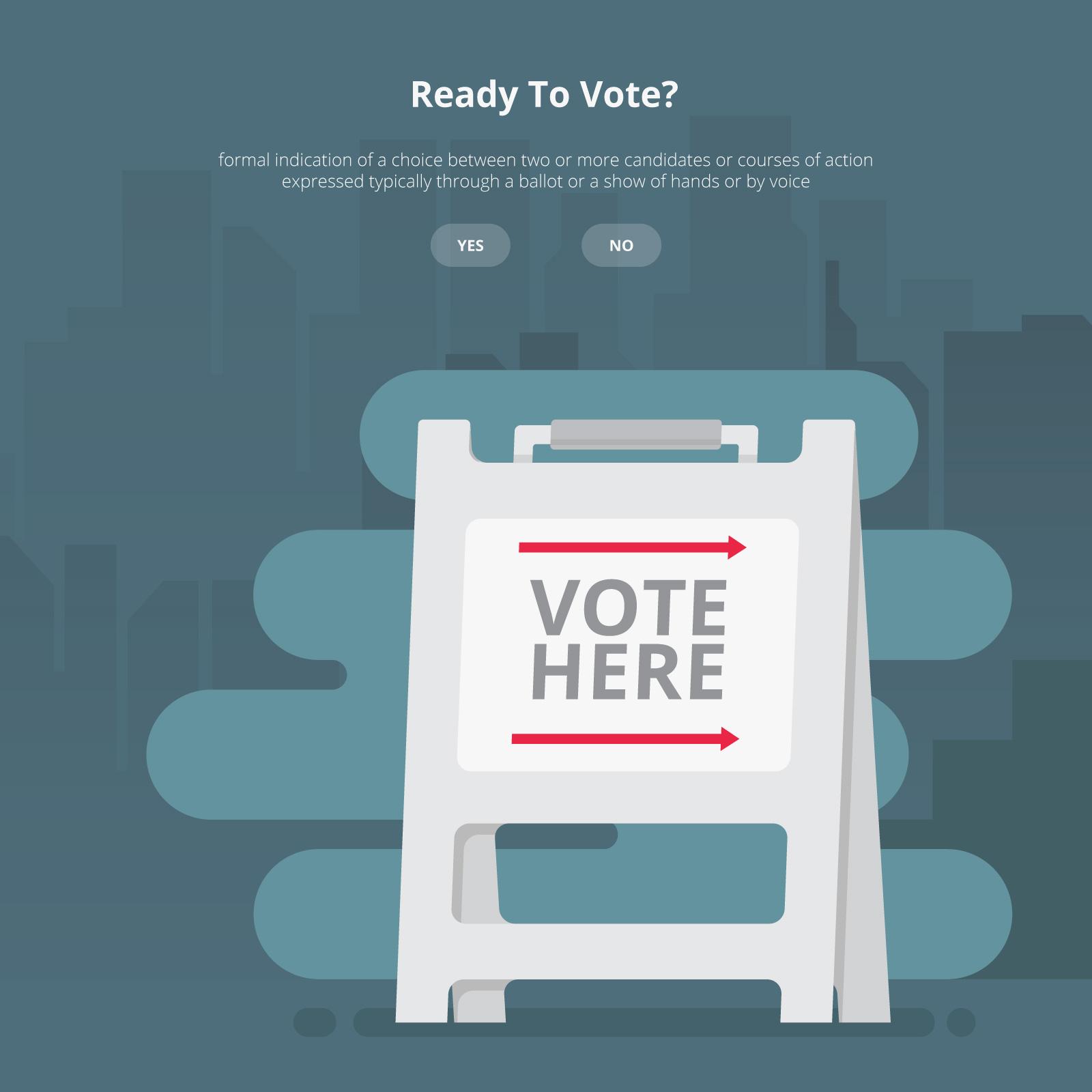 Ilustración de signo de campaña, Ilustración de signo de voto ...