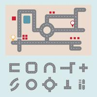 wegenkaart vector