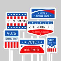 Vecteur de signe de campagne politique